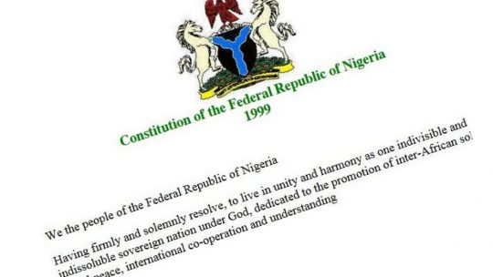 Constitution of Nigeria