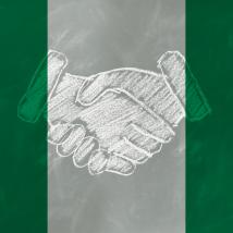 handshake across the niger