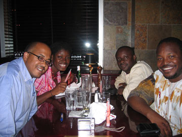 Dinner with Omolou Falobi